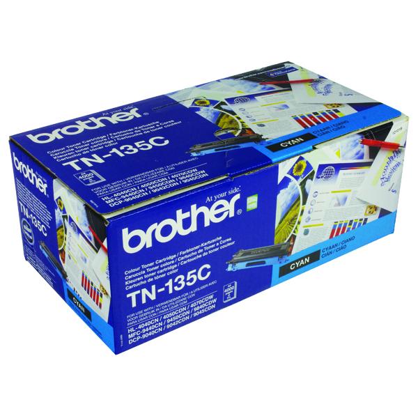 Brother TN135C Cyan High Yield Laser Toner Cartridge TN-135C