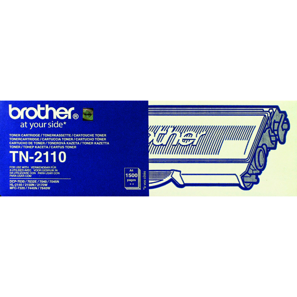 Brother TN-2110 Laser Black Toner Cartridge TN2110