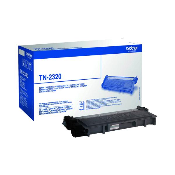 Brother TN2320 Black High Yield Laser Toner Cartridge TN-2320
