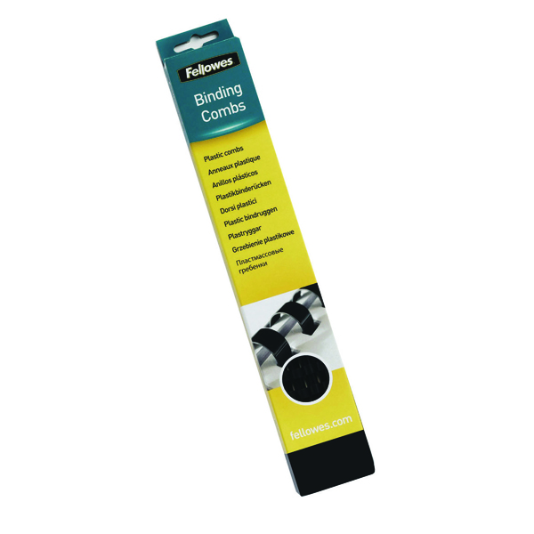 Fellowes Black A4 Binding Combs 32mm (50 Pack) 53493