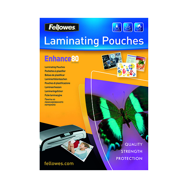 Fellowes A4 Enhance Laminating Pouches 160 Micron (25 Pack) 53962