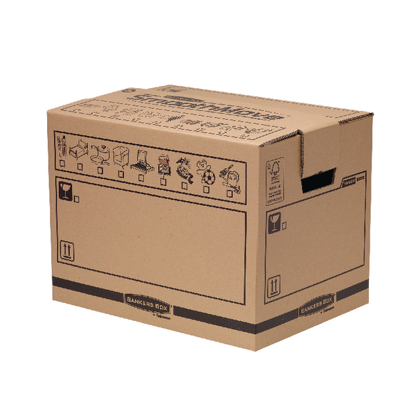 Bankers Box Manual Removal Box Book Box H340xW320xD450mm (5 Pack) 6205603