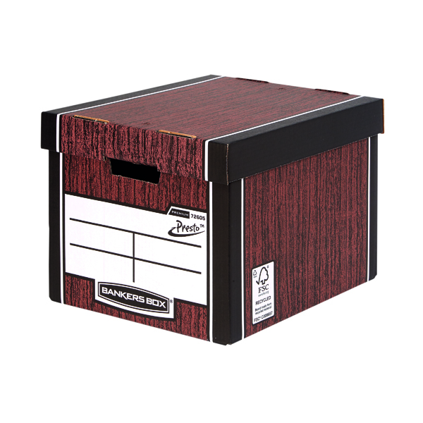 Bankers Box Woodgrain Tall Premium Storage Box (10 Pack) 7260503