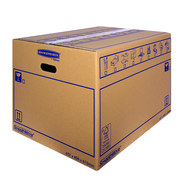 Bankers Box SmoothMove Standard Moving Box 460x410x610mm (10 Pack) 6207501