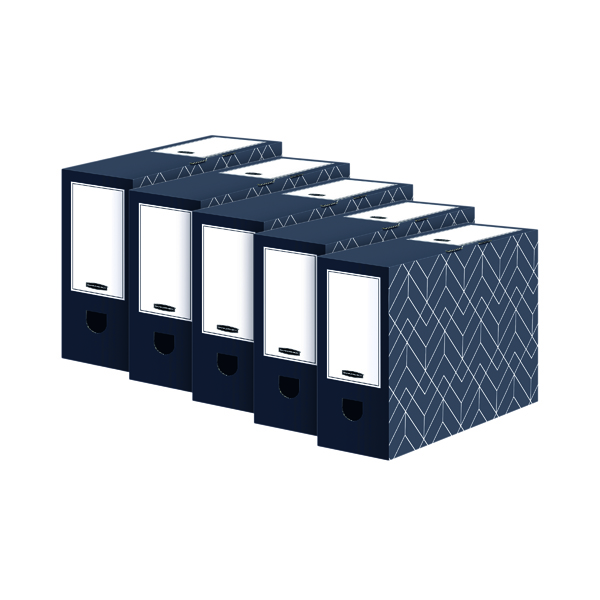 Bankers Box Decor 100mm Transfer File Grey (5 Pack) 4482901