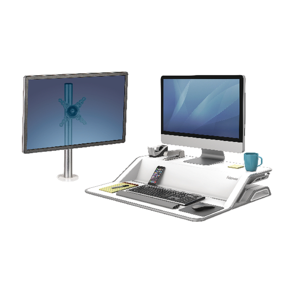 Fellowes Lotus Sit Stand White FOC Arms BB810542