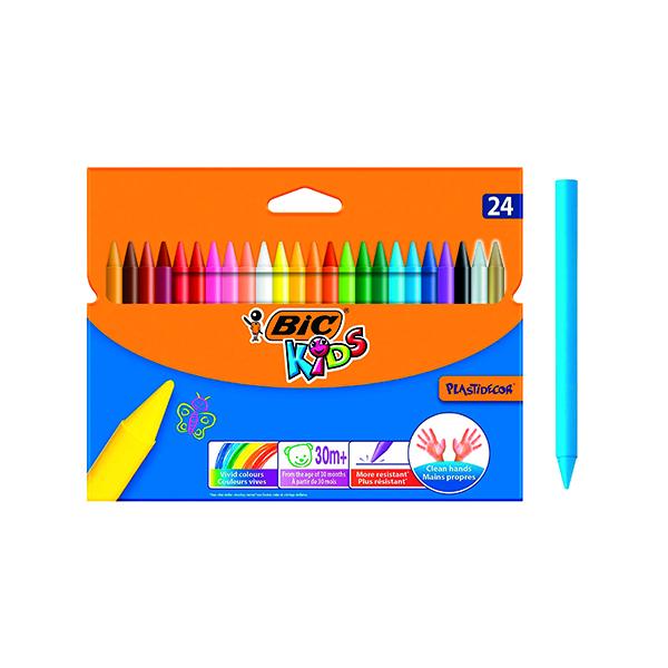 Bic Plastidecor Crayons (24 Pack) 829772