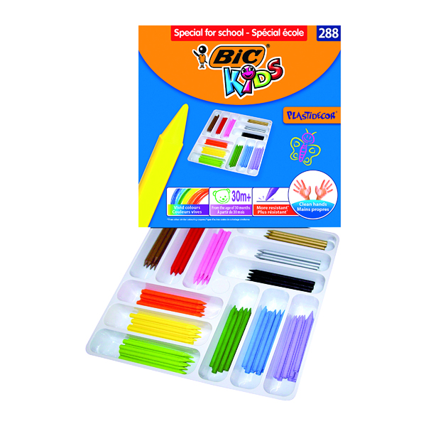 Bic Kids Plastidecor Colouring Crayons Class (288 Pack) 887835