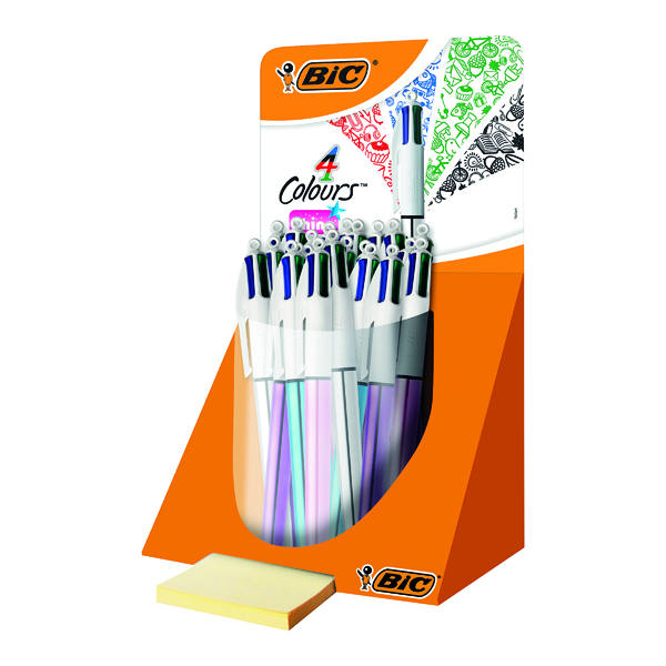 Bic 4 Colour Shine Pen Countertop Display (20 Pack) 902128