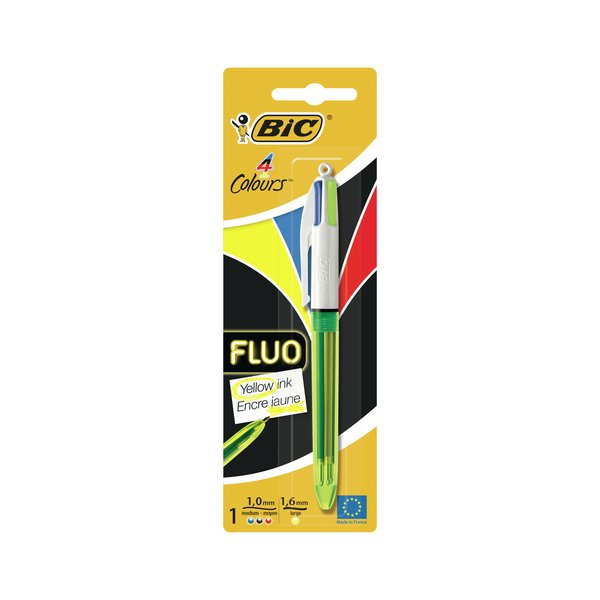 Bic 4 Colours Fluo Blister (10 Pack) 939422