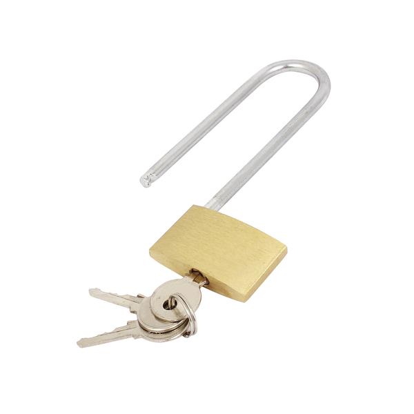 Brass Padlock Long Shackle 041647