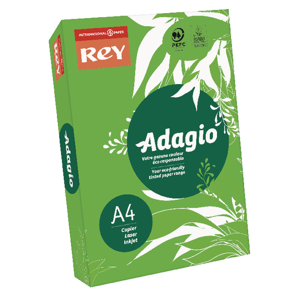 Adagio Intense Deep Green Coloured Card (250 Pack) 201.1221