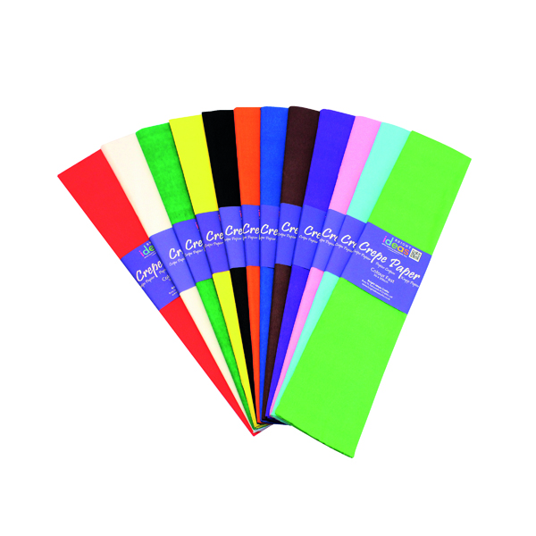 Bright Ideas Crepe Paper Assorted (12 Pack) BI0568