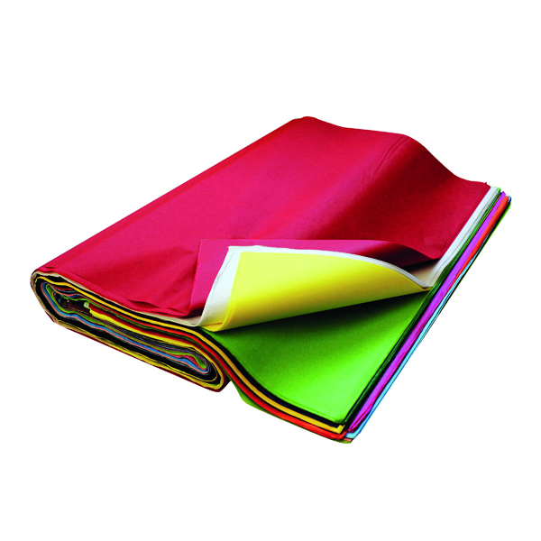 Assorted Colour Tissue Paper 520x760mm (480 Pack) BI7830