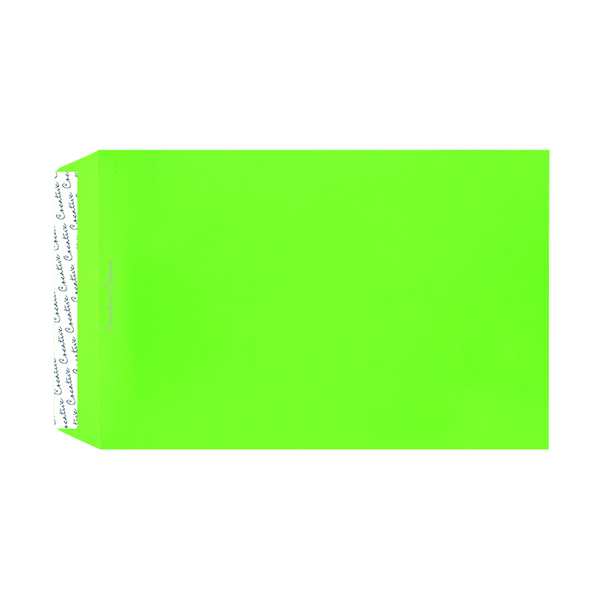 C4 Pocket Envelope Peel and Seal 120gsm Lime Green (250 Pack) 407P
