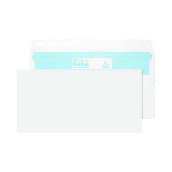 Evolve DL Recycled Envelope Self Seal 90gsm White (1000 Pack) RD7882