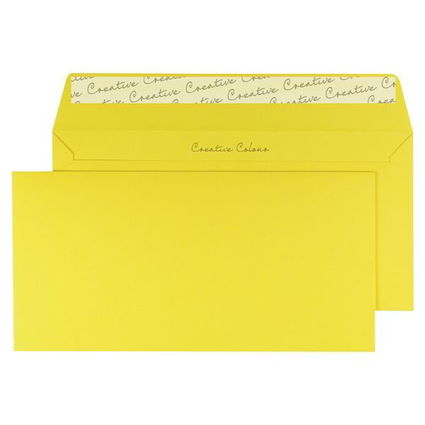 Banana Yellow DL Wallet Envelope Peel and Seal 120gsm (250 Pack) BLK93015