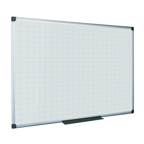 Bi-Office Maya Magnetic Whiteboard Gridded 1200x1200mm MA3847170
