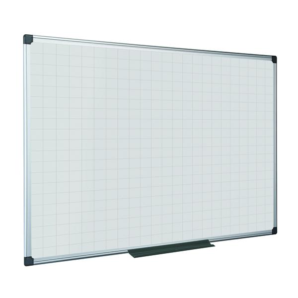 Bi-Office Maya Magnetic Whiteboard Gridded 1500x1200mm MA1247170