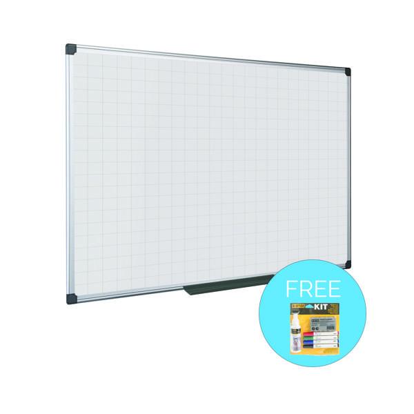 Bi-Office Maya Magnetic Whiteboard Gridded 1200x900mm MA0547170