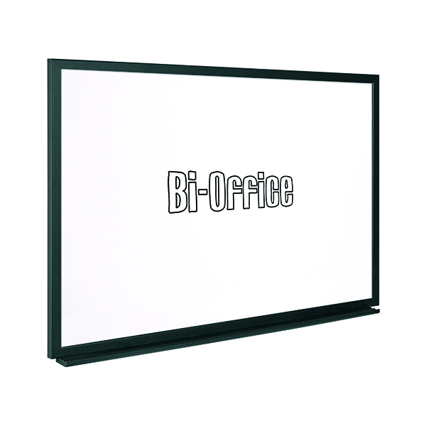 Bi-Office Black Frame Drywipe Board 600x450mm MB0400169