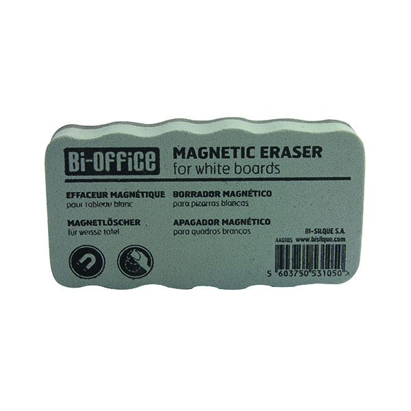Bi-Office White Lightweight Magnetic Eraser AA0105 BQ53105