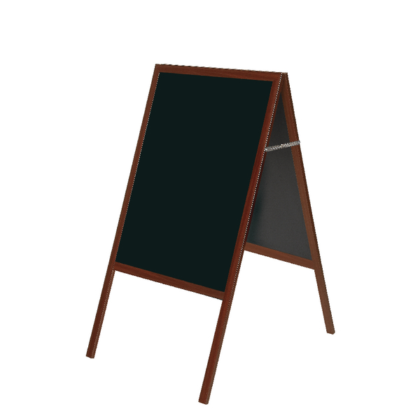 Bi-Office A Frame Chalk Board Cherry Frame 600 x 1200mm DKT30404052
