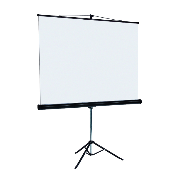 Bi-Office Black Tripod 1250mm Projection Screen 9D006028