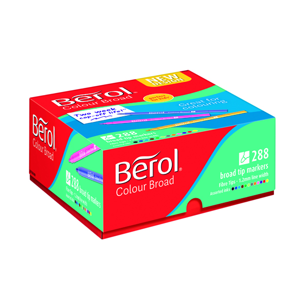 Berol Colour Broad Class Pack Assorted (288 Pack) 2057598