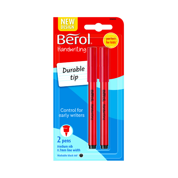 Berol Handwriting Pen Blister Card Black (24 Pack) S0672930