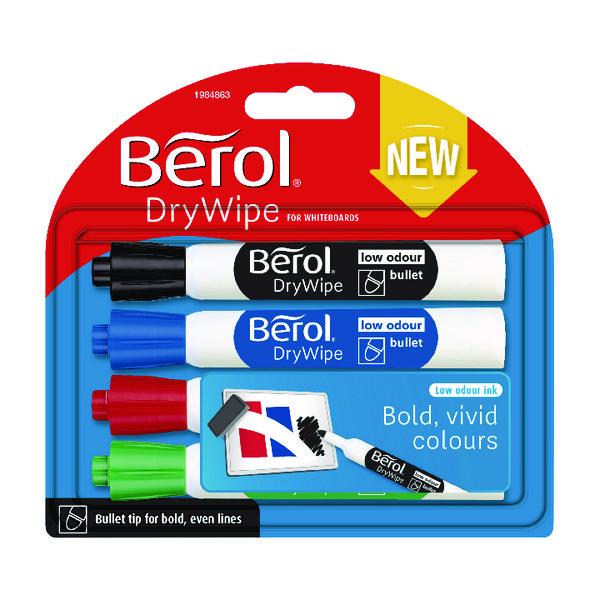 Berol Drywipe Marker Standard Assorted (48 Pack) 1984864