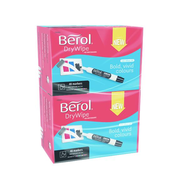 Berol Drywipe Marker Bullet Tip Assorted 96 Pack 1984869