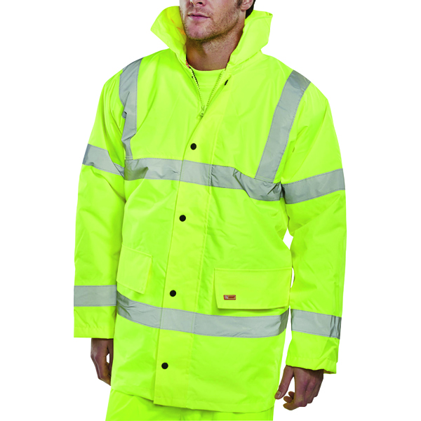 Proforce Yellow High Visibility Site Jacket Class 3 EN471 Medium HJ03YLM