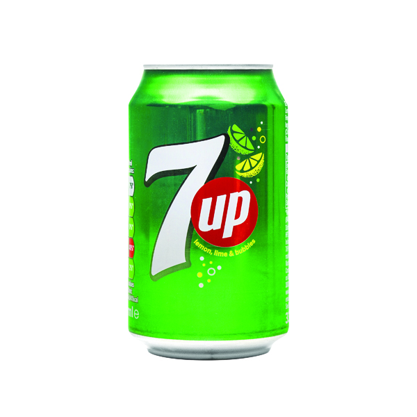 7-Up Lemon and Lime Carbonated Drink 330ml Cans (24 Pack) 402010