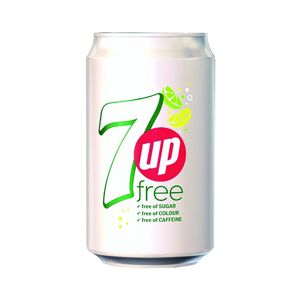 7 Up Free Lemon and Lime Carbonated Canned Soft Drink 330ml (24 Pack) 402049