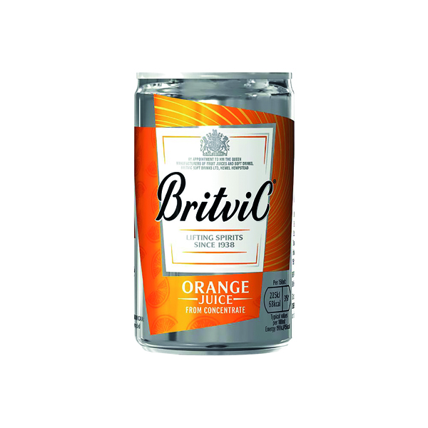 Britvic Orange Juice 330ml Can (24 Pack) 402045