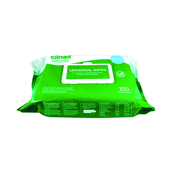 Clinell Universal Wipes BCW100 (100 Pack) CM1907