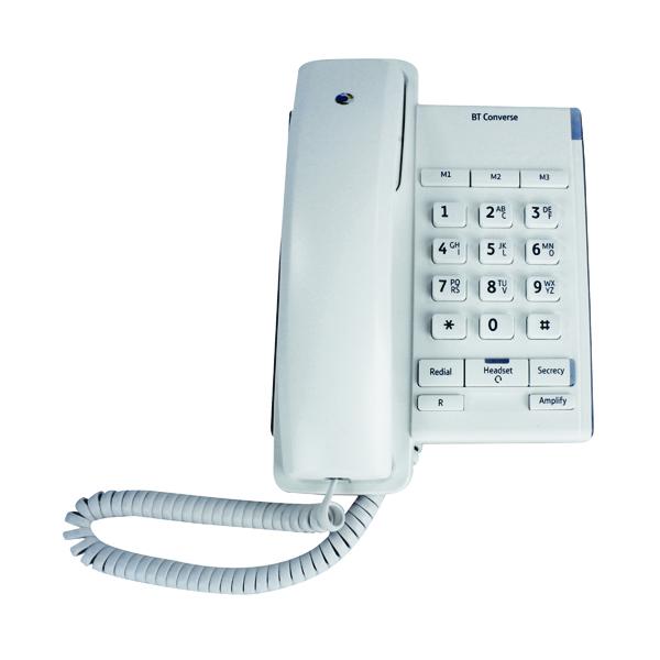 BT Converse 2100 White Corded Phone 040205