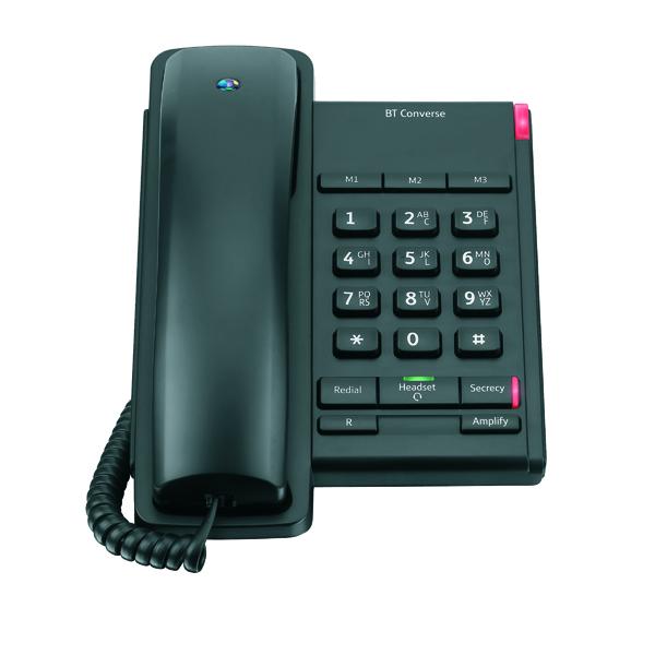 BT Converse 2100 Black Corded Phone 040206