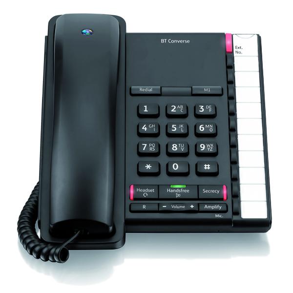 BT Converse 2200 Black Corded Phone 040208