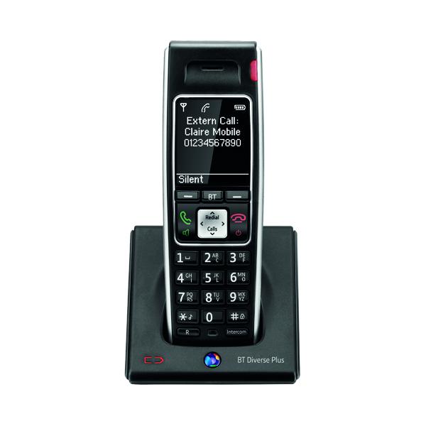BT Diverse 7400 Plus DECT Cordless Black Phone 44714