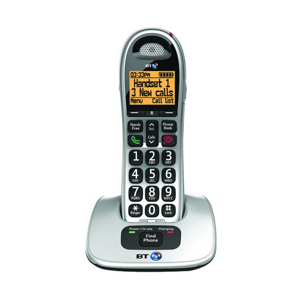 BT BT4000 Single Big Button DECT Cordless Phone Silver/Black 069264