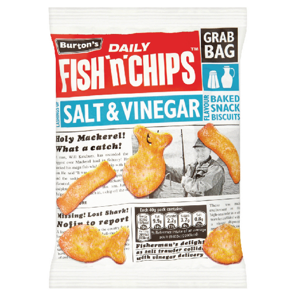 Burtons Fish N Chips Salt and Vinegar 40g 16264