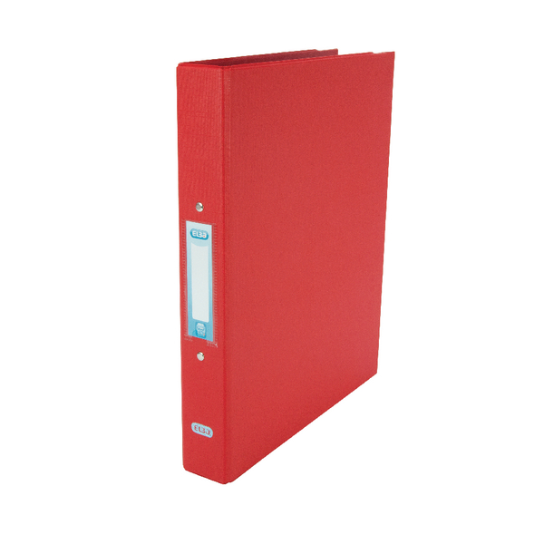 Elba Red A4 2 Ring Binder 25mm (10 Pack) 400001511