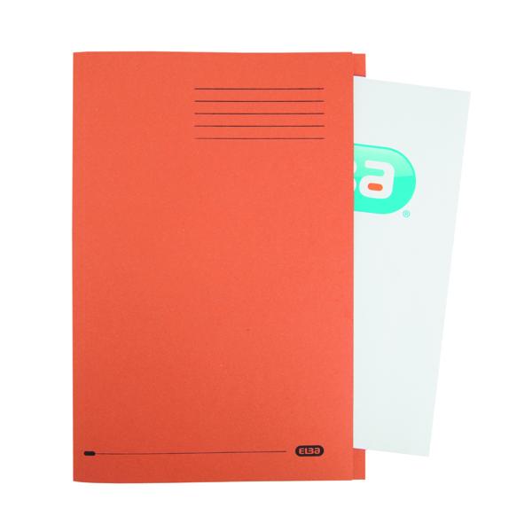 Elba Square Cut Folder Manilla 285g FC Orange (10 Pack) 100090220