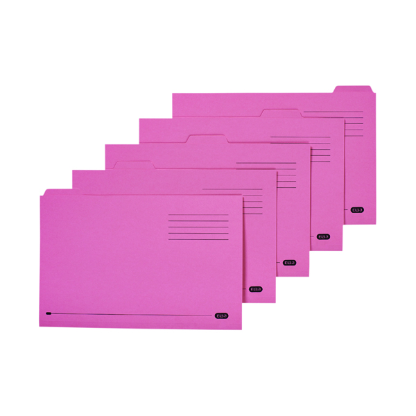 Elba 5 Tabbed Folder Manilla 250g  FC Pink (20 Pack) 100090236