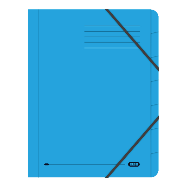 Elba Strongline 7-Part File A4 Blue (5 Pack) 100090169