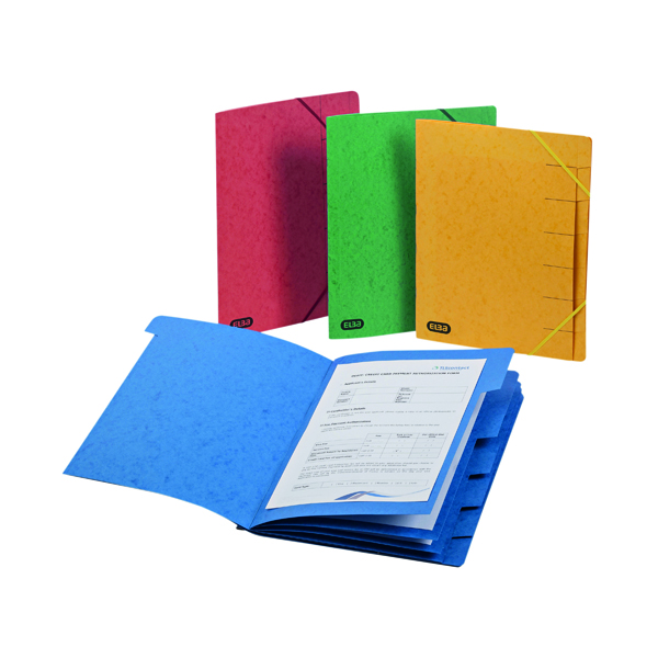 Elba Strongline 9 Part Manilla Foolscap Red (5 Pack) 100090174