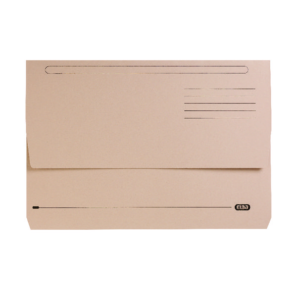 Elba StrongLine Document Wallet Manilla Foolscap Buff (25 Pack) 400053600