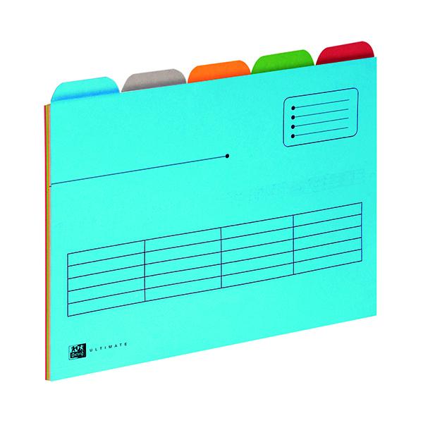 Elba 5 Tabbed Folder A4 Assorted (5 Pack) 100330160